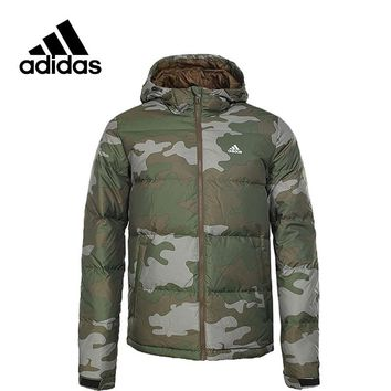 New Arrival Authentic Adidas NUVIC CAMO Men's Windproof Jacket Hooded Sportswear