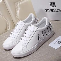 GIVENCHY Logo Lace-Up Sneakers in White-1