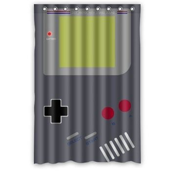 Gameboy Funny Waterproof Shower Curtain