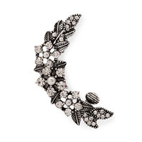 FOREVER 21 Rhinestoned Leaf Earcuff Burn.S/Clear One