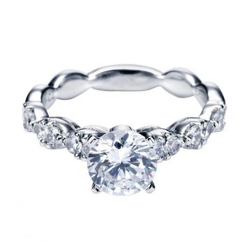1.50cttw Prong Set Vintage Style Round Diamond Engagement Ring