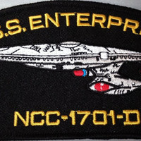 Star Trek TNG U.S.S.Enterprise NCC-1701-D Ship PATCH