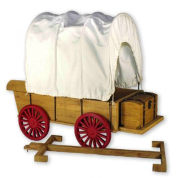 Little House® Covered Wagon, Sleigh & Trunk Fits Two 18 Inch American Girl Dolls