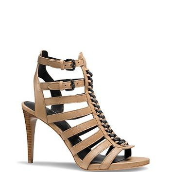 COACH Jewels Chain Front Strappy High Heel Sandal