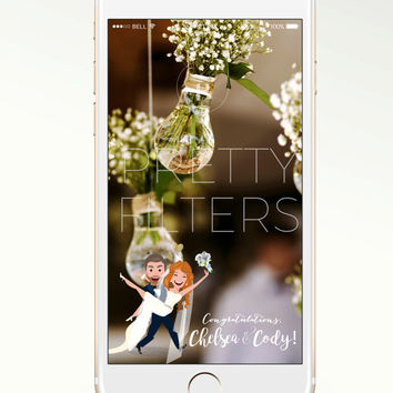 DIY Snapchat GeoFilter for Wedding | Personalised cartoon | We Customize for You | Ready in 48 hours | Perfect Gift