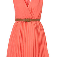Crossover Pleated Belt Dress by Rare** - Brands at Topshop - Dresses - Topshop