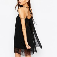 BCBG Generation Tank Dress With Lace Hem