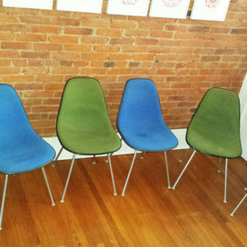 Eames Upholstered Fiberglass Shell Chairs