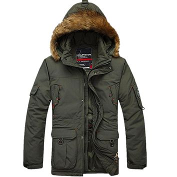 Size M-5XL Men's Long Thick Detachable Liner Snow Warm Waterproof Winter White Duck Down Jacket Coat For Men,2 Colors,FZE93