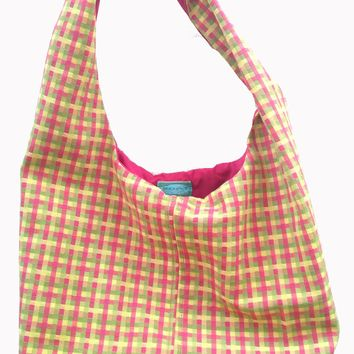 Spring Plaid Shoulder Bag