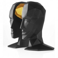 Minimal Design Store - menu knowledge in the brain bookends black/gold