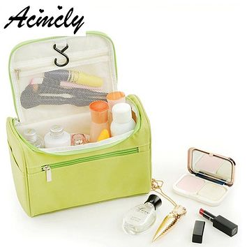 Women and Men Large Capacity Waterproof Makeup Bag Nylon Travel Cosmetic Bag Organizer Case Make Up Wash Toiletry Bag a693/o