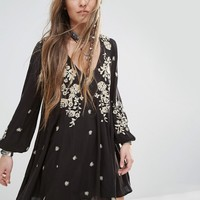 Free People Sweet Tennessee Embroidered Mini Dress at asos.com