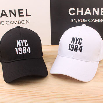 NYC 1984 Women's Trending Popular Fashion Casual Simple Hip-hop Weekend Curved Peak Trucker Baseball Cap Hat _ 5002