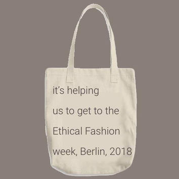ECO tote bag | hemp or organic cotton bag | your way to support Ethical fashion and Mother Earth | fundraising | crowdfunding | ethical gift