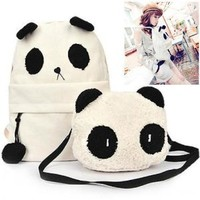 DMtse New Fashion Cute Panda Schoolbag Backpack Shoulder Bag