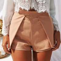 Suddenly In Love Shorts (Tan)