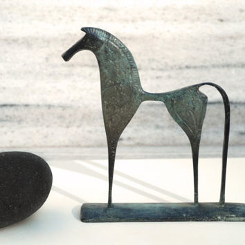 Greek Geometric Bronze Horse by GreekMythos on Etsy