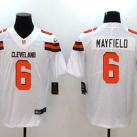 Cleveland Browns #6 Baker Mayfield Men's Vapor Untouchable Limited Jersey White