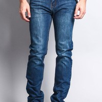 Premium Denim Skinny Fit Jeans DL1004 (Indigo Blue) - B1D