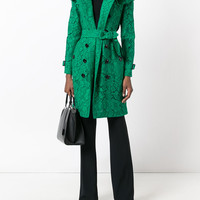 Burberry Ruffle Trim Trench Coat - Farfetch