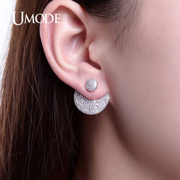 UMODE New Arrival Earrings Jackets Two Colors Moon And Sun Design Adjustable Earrings For Women Jewelry Boucle D'oreille UE0250