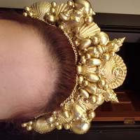 Gold Mermaid Crown