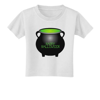 Witches Cauldron Happy Halloween Toddler T-Shirt