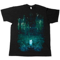 Night Vision on Black Fine Jersey Slim Fit by Brand New