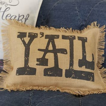 Junk Gypsy Y'all Pillow Cover