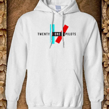 Twenty one pilots Hoodie color black and white by pahpohhoodie