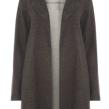 Charcoal Knitted Coat - Jackets & Coats - Clothing
