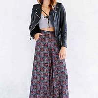 Band of Gypsies Printed Wide-Leg Pant- Purple Multi