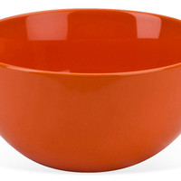 Round Serving Bowls, Orange, Set of 4, Dinner Serving Utensils