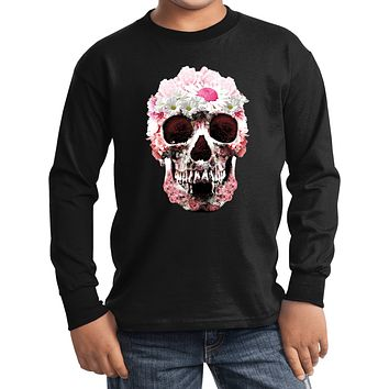 Buy Cool Shirts Daisy Skull Youth Kids Long Sleeve Shirt