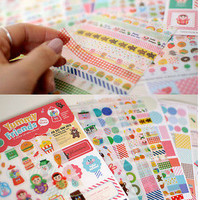 12 sheet Yummy Friend diary book phone photo album decorative stickers