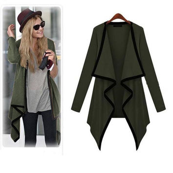 Kimisohand 2016 New Arrival Fashion Women Long Sleeve Casual Knit Sleeve Thin Sweater Coat Cardigan Jacket Outwear for Autumn