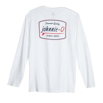 Deck Long Sleeve T-Shirt in White by Johnnie-O