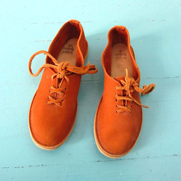 Vintage folk dance shoes festival medieval revival hippie 70s boat deck shoes 5