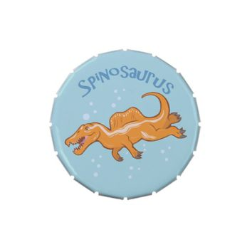 Cute Spinosaurus Jelly Belly Candy Tins