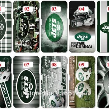 Lot New York Jets Painting plastic Hard Cover For Samsung Galaxy S3 S4 S5 Mini S6 S7 Edge Plus Note 2 3 4 5 Mobile Cell Case