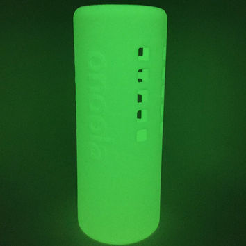 Onoola 40oz Glow In The Dark Protective Silicone Sleeve For Hydro Flask Type Bottles