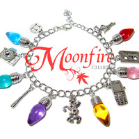 STRANGER THINGS Christmas Lights Fandom Charm Bracelet