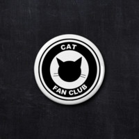Cat fan club button