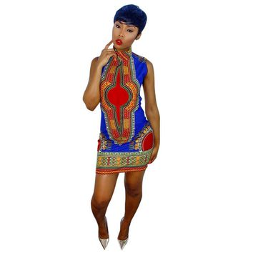 2017 New Summer   African Print Dashiki dress for women dresses africa clothing traditional Ladies dress fashion designs