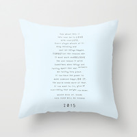 Survival guide 2015 Throw Pillow by Deadly Designer