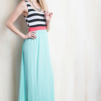 Mommy & Me Mint Maxi with Striped Top