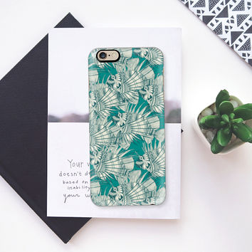 fish mirage teal iPhone 6s case by Sharon Turner | Casetify