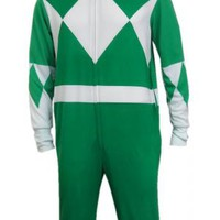 Mighty Morphin Power Rangers Green Ranger Onesuit Pajama