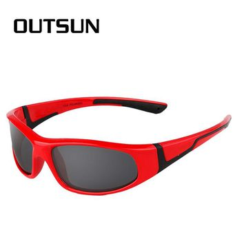 Super Cool Black Frame UV400 Protection Polaroid Lenses Children Sun Glasses Kids Polarized Sunglasses Brand Designer Goggles